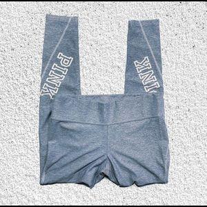 Victoria Secret Pink skinny ankle yoga grey pants